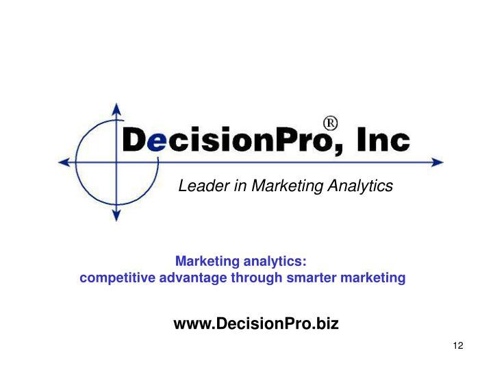 Leader in Marketing Analytics