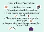 work time procedure