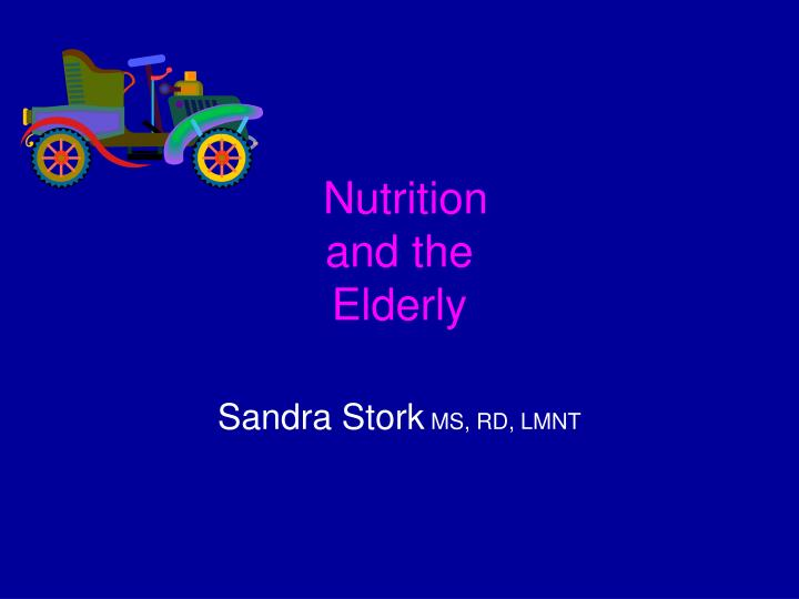 nutrition and the elderly n.