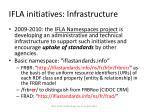 ifla initiatives infrastructure