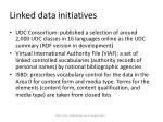 linked data initiatives