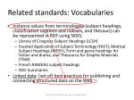 related standards vocabularies