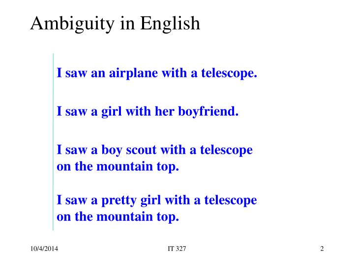 Ambiguity in english