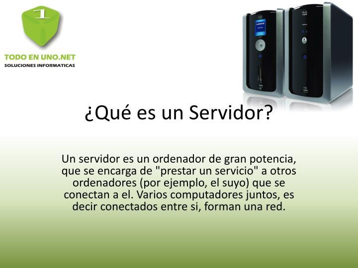 Qu es un servidor