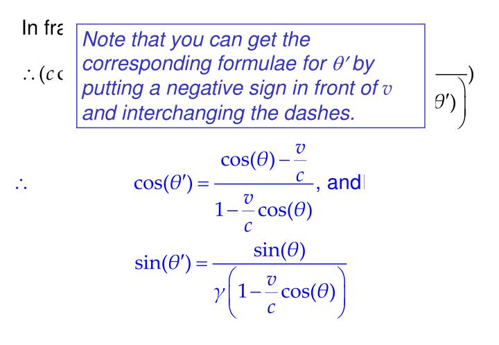 Note that you can get the corresponding formulae for