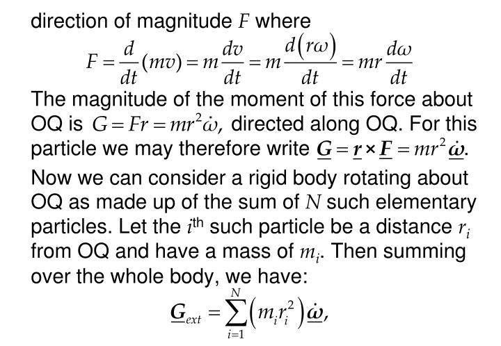 direction of magnitude