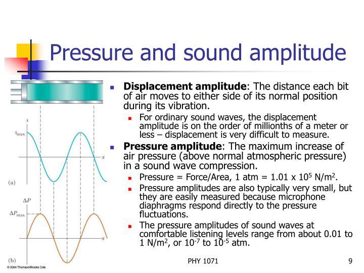 Pressure and sound amplitude
