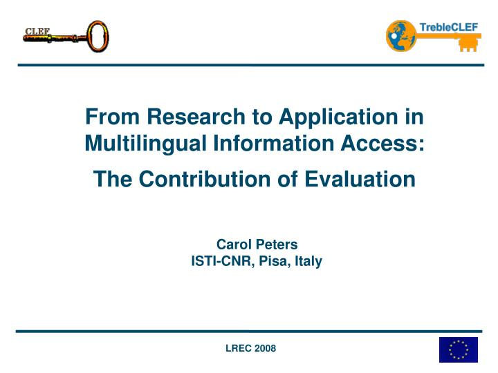 evaluation of the contribution of the