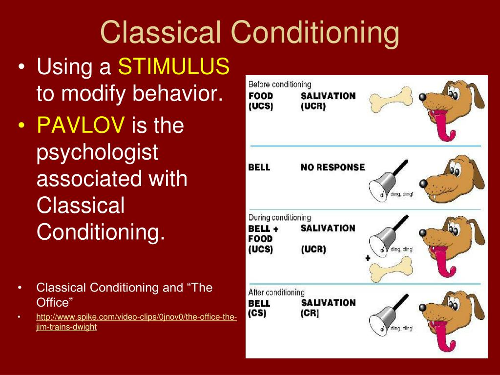 personal examples of classical conditioning