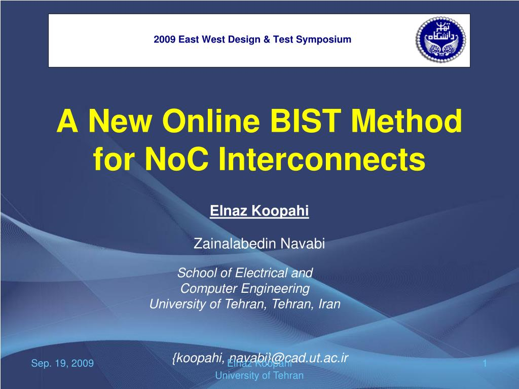 Ppt A New Online Bist Method For Noc Interconnects Powerpoint Presentation Id 5166250