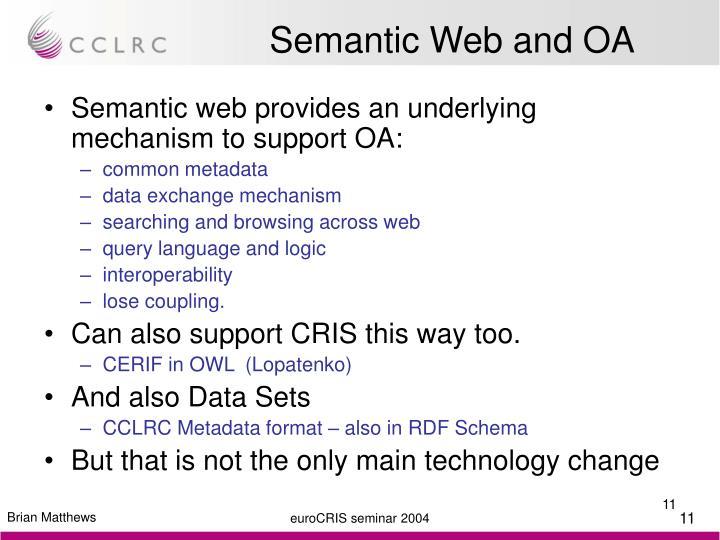 Semantic Web and OA