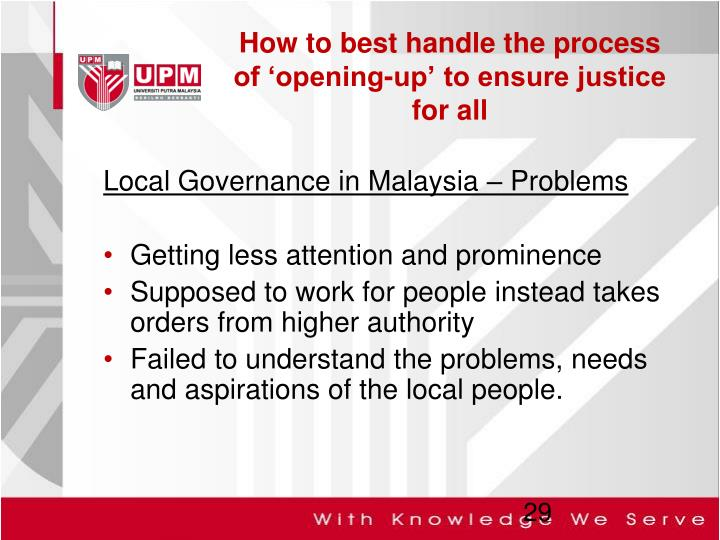 Local Governance in Malaysia – Problems
