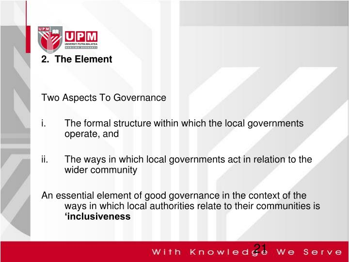 2.  The Element