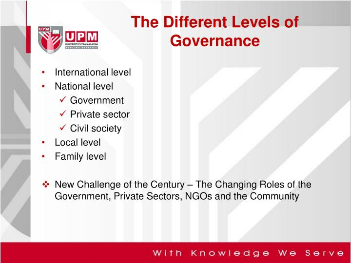 The Different Levels of Governance