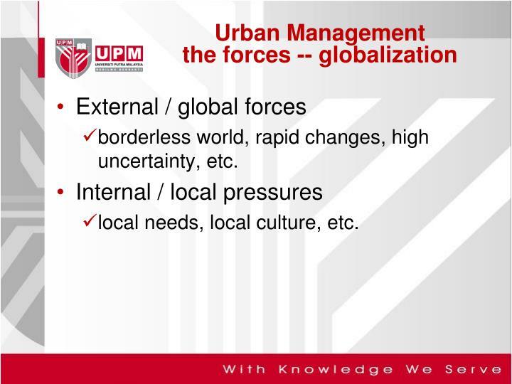 External / global forces