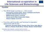 international co operation in life sciences and biotechnology2