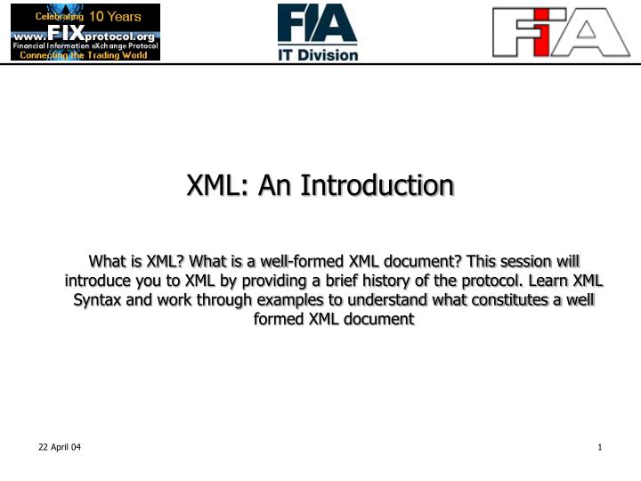 PPT - XML: An Introduction PowerPoint Presentation - ID:5166542
