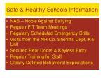 safe healthy schools information