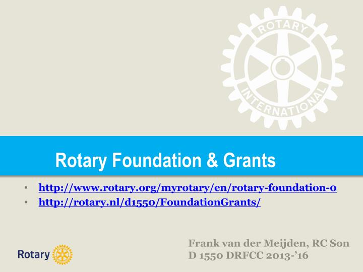 rotary foundation grants n.