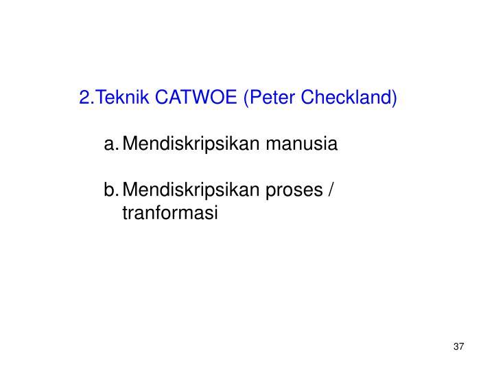 Teknik CATWOE (Peter Checkland)