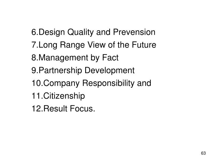 Design Quality and Prevension