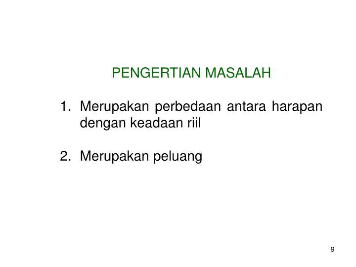PENGERTIAN MASALAH