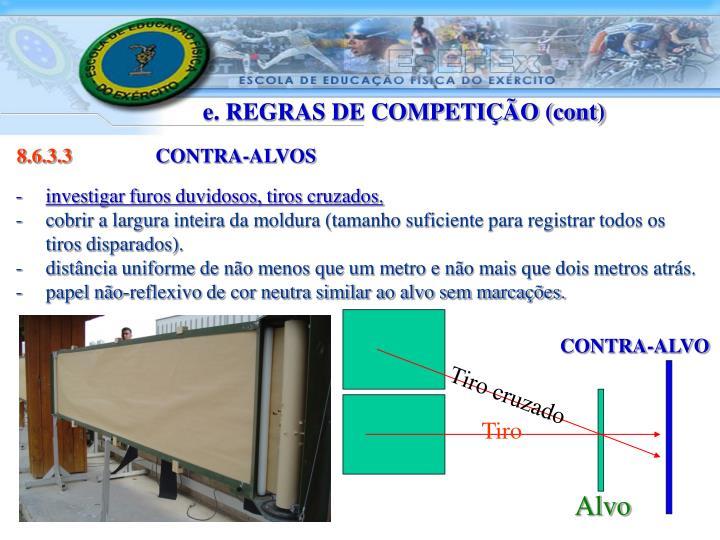 e. REGRAS DE COMPETIÇÃO (cont)
