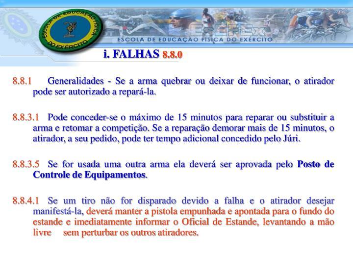 i. FALHAS