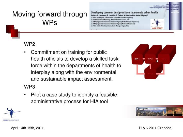 Moving forward through WPs