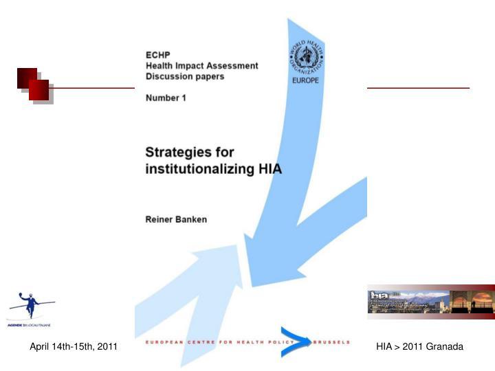 Italian agenda 21 working party on hia