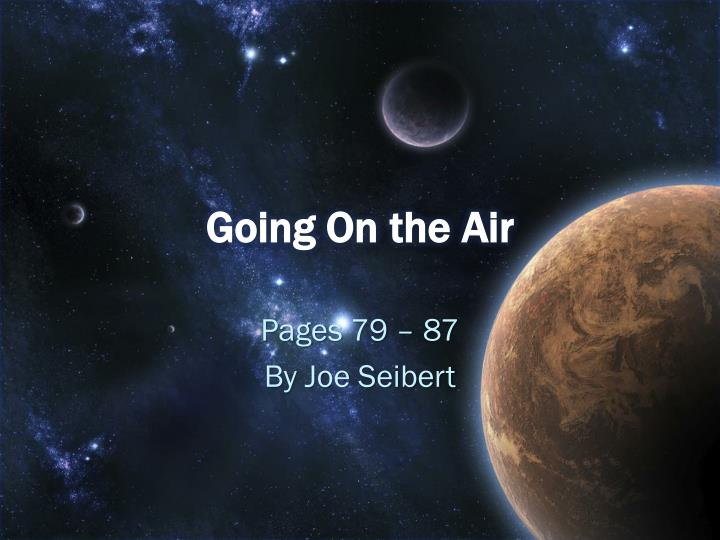 going on the air n.