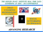 the kepler space institute real time data gathering at isdc 2012 conference
