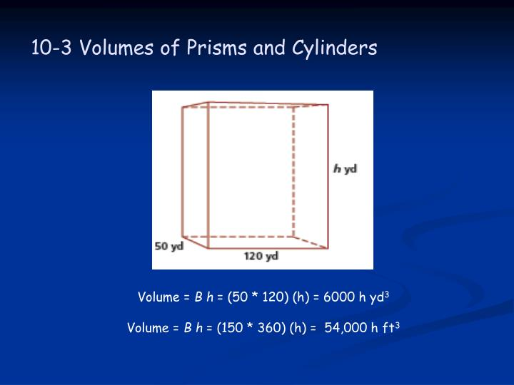 10 3 volumes of prisms and cylinders2