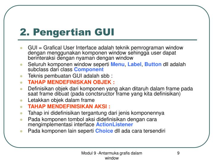 2. Pengertian GUI