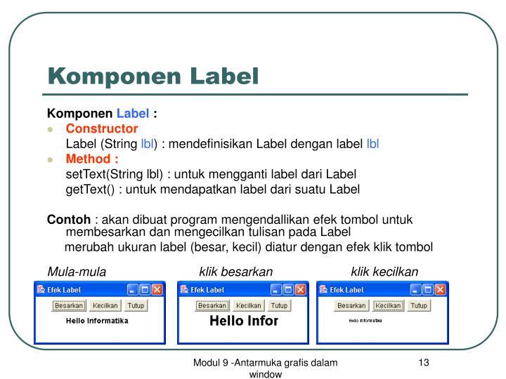 Komponen Label