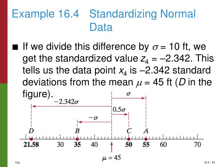 Example 16.4Standardizing Normal Data