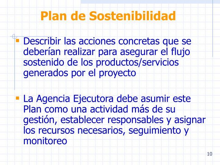 Plan de Sostenibilidad