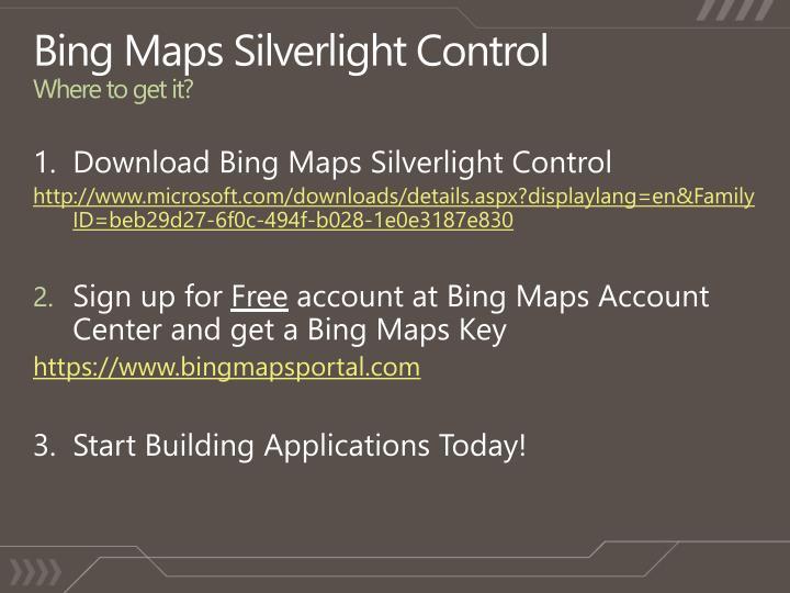 Bing Maps Silverlight Control