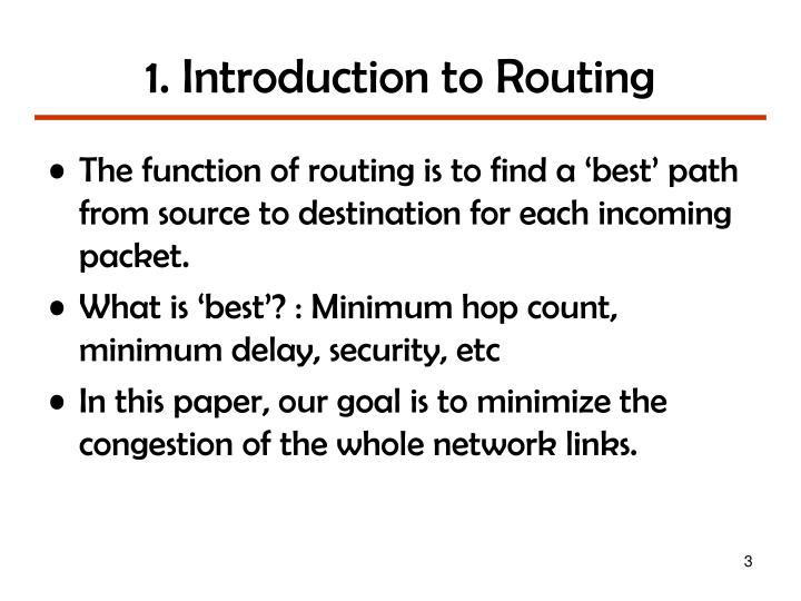 1 introduction to routing