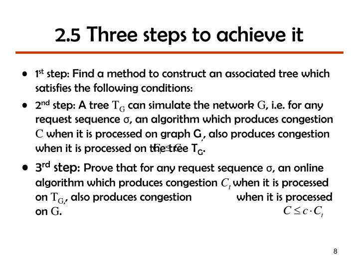 2.5 Three steps to achieve it