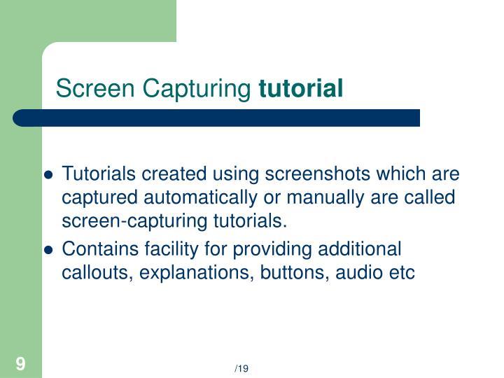 Screen Capturing