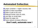 automated collection