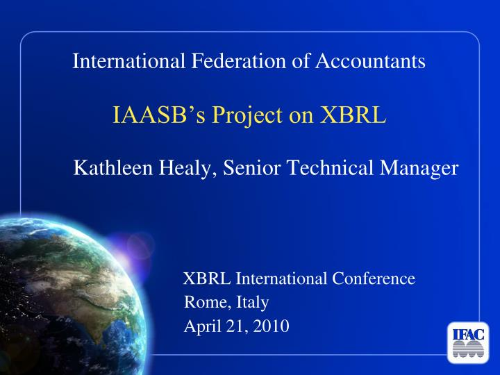 IAASB's Project on XBRL