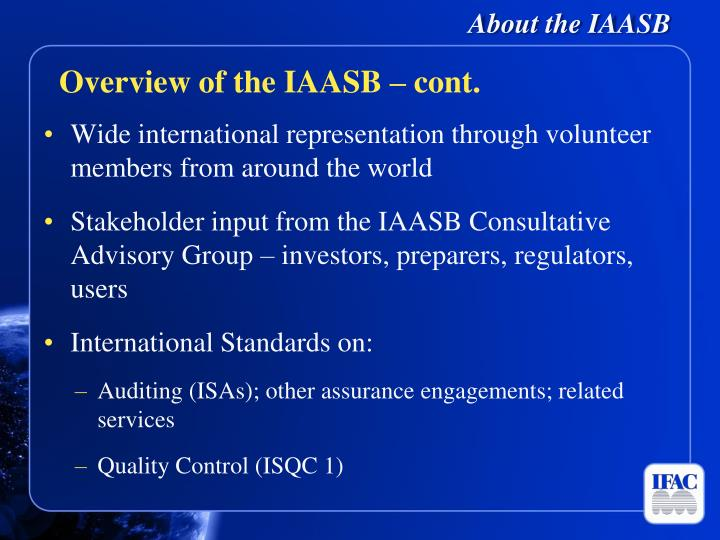 About the IAASB