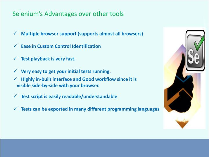Selenium's Advantages over other tools