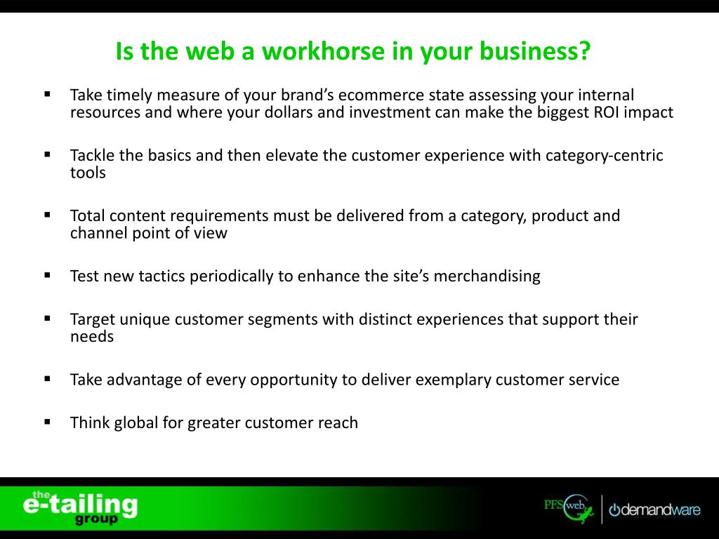 PPT - Webinar: The Web as a Workhorse PowerPoint