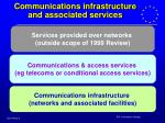 communications infrastructure and associated services