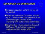 european co ordination