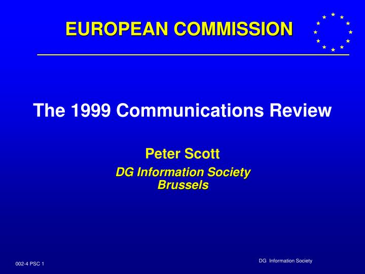 the 1999 communications review