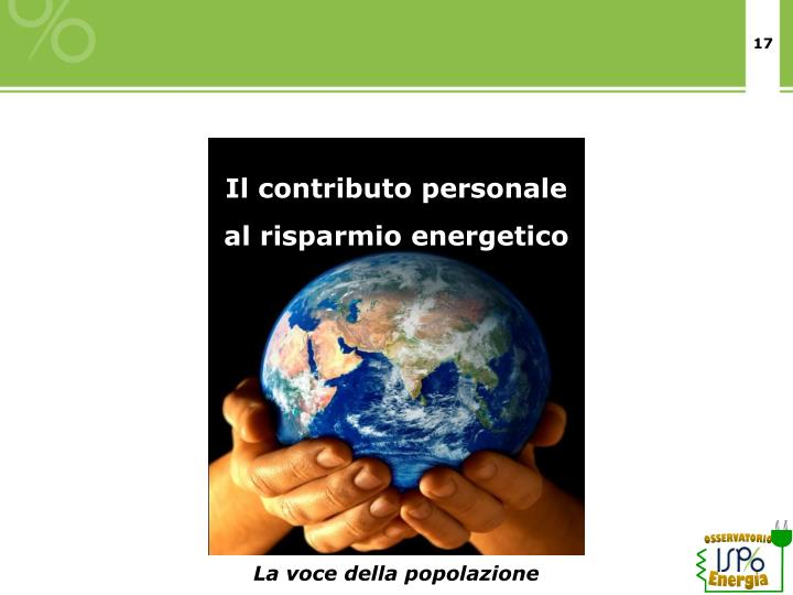 Il contributo personale